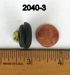 Pack Of  15 Black Rubber Grommets 2040
