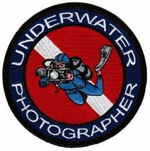 Underwater Photographer Patch Embroidered Iron-On Scuba Diving Photography Em... - $5.99