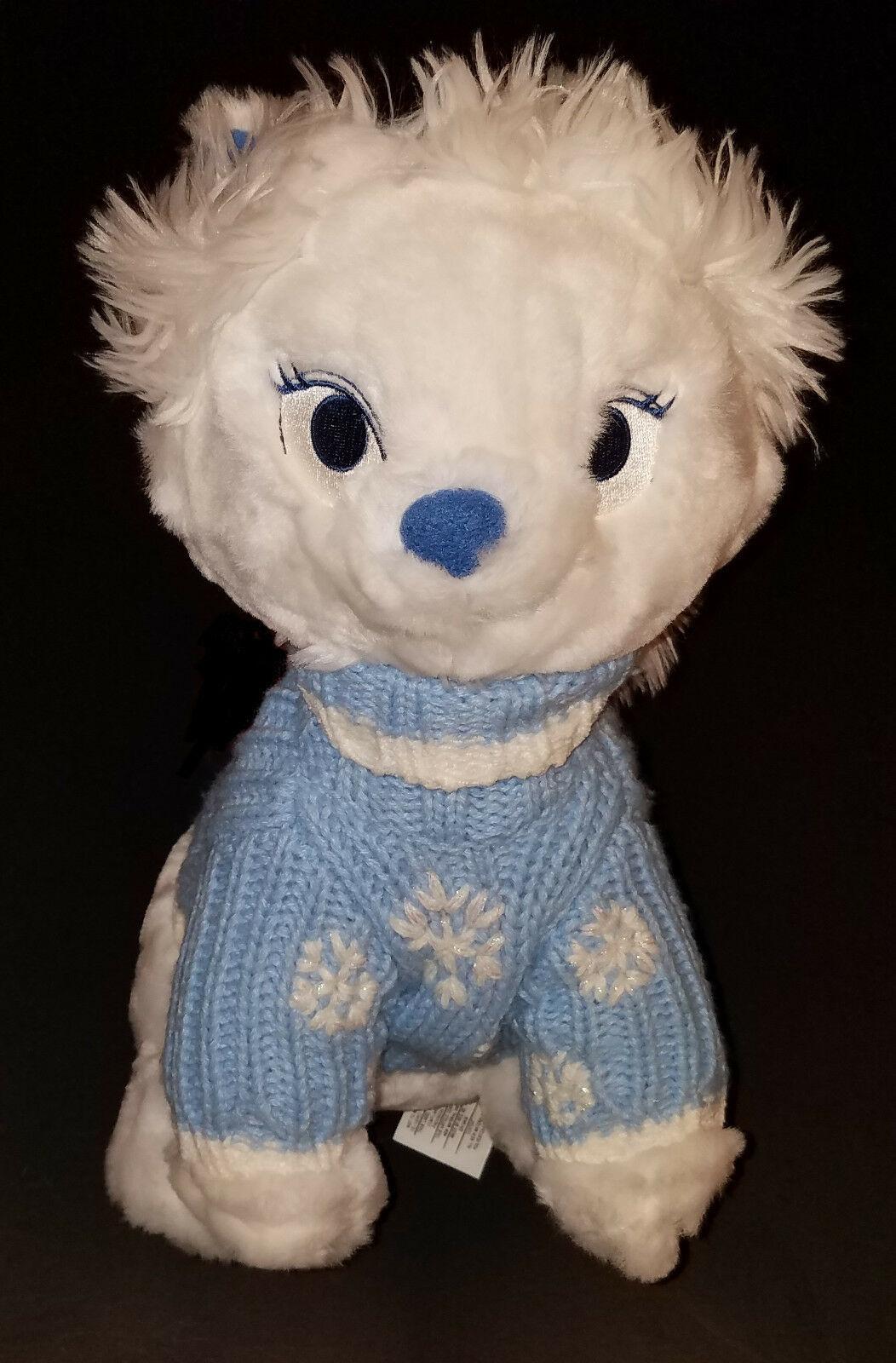"Disney Store Exclusive Aristocats Marie Cat 12"" Wearing Blue Sweater Hat Winter"