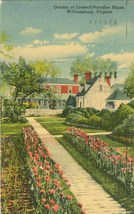 Garden of Ludwell-Paradise House, Williamsburg, Virginia, 1956 used Postcard - $5.99
