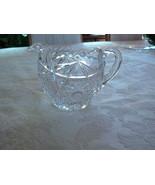 Gorgeous American Brilliant Period EAPG Crystal Sawtooth Edge Creamer - $24.74
