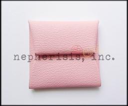 AUTH BNIB Hermes BASTIA GM Coin Purse or Coin Pouch in Pink Chevre ROSE ... - $395.00