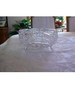 Elegant Unmarked American Brilliant EAPG Crystal Footed Bowl - $89.09