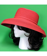 New Red San Diego Hat Company Ladies Bucket Style Sun Hat - $7.95