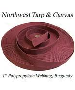 "Polypropylene Webbing, 1"" Burgundy 100 Yard Roll - Shipped from The USA! - $36.27"