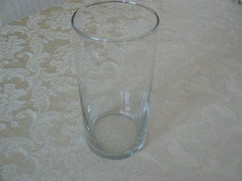 Vintage Unmarked Clear Tall Contemporary Style Glass Vase - $14.84