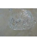 Antique American Brilliant Period Cut Glass Hobstar Punty Cut Top Handle... - $16.81