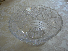 Gorgeous Antique Early American Pressed Glass Footed Bowl - $39.59