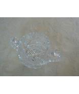 Antique American Brilliant Period Sawtooth Scallop Top Cut Glass Open Su... - $34.64