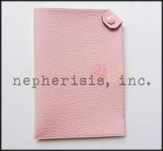 Auth Bnib Hermes Tarmac Pm Passport Holder Or Cover In Pink Chevre Rose Sakura - $400.00