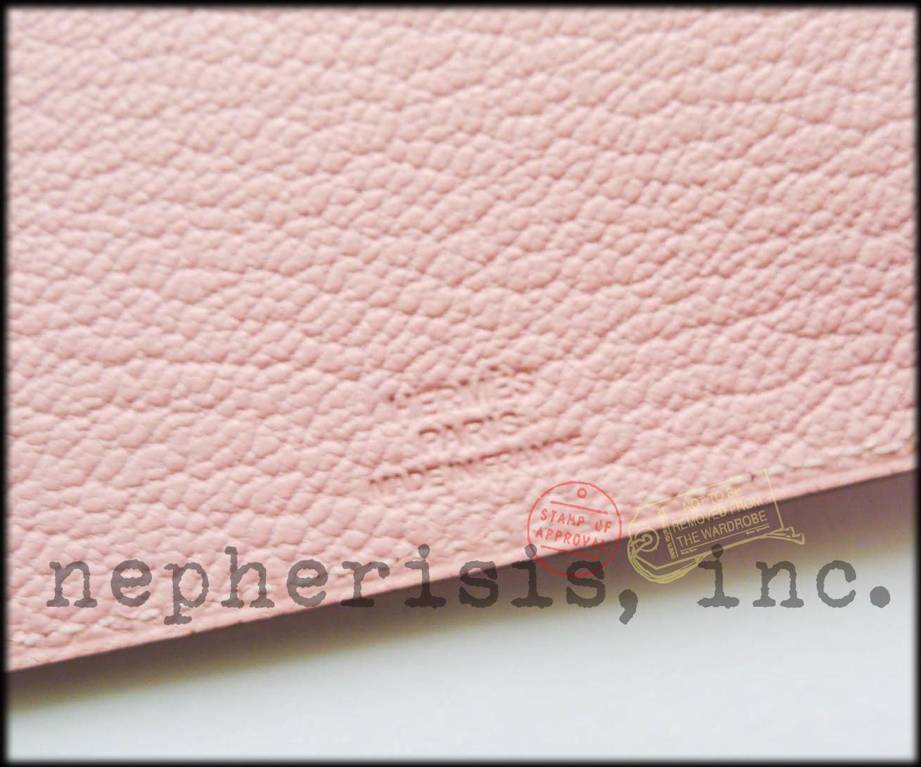 AUTH BNIB Hermes TARMAC PM Passport Holder or Cover in Pink Chevre ROSE SAKURA image 6