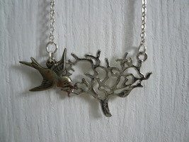 Bird & Tree Necklace  - $22.50
