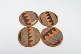 rug wool coasters,wool coasters,rug coasters,coffee table accents,coasters image 2