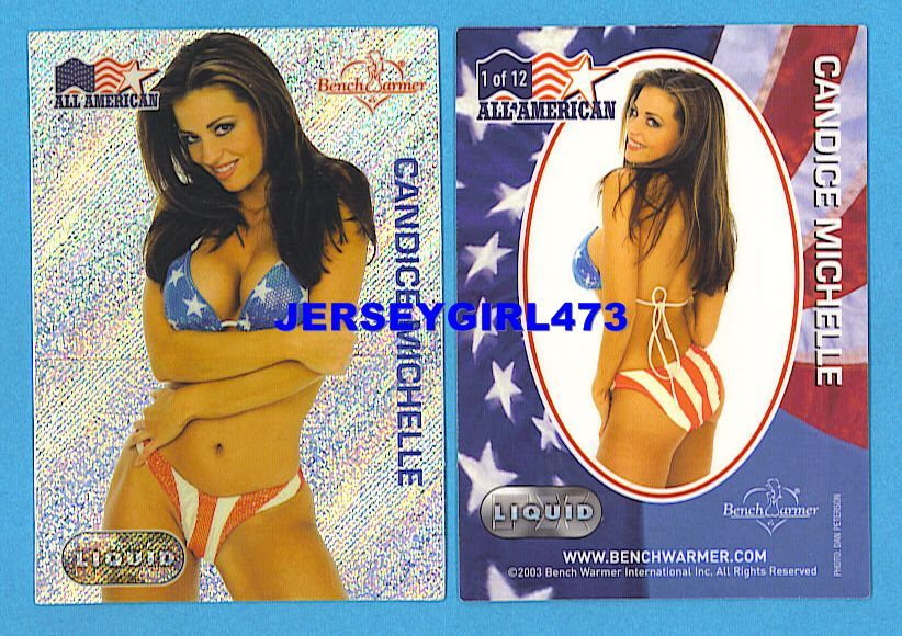 Sexy Candice Michelle 2003 Bench Warmer Series 1 All American Liquid FX Card #1