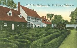 The Garden. Mt Vernon, VA, The Home of Washington, early 1900s unused Po... - $4.99