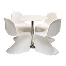 EZmod Furniture Mid Century Modern Panton Style S Chair-Matte Finish (Fr... - £85.32 GBP