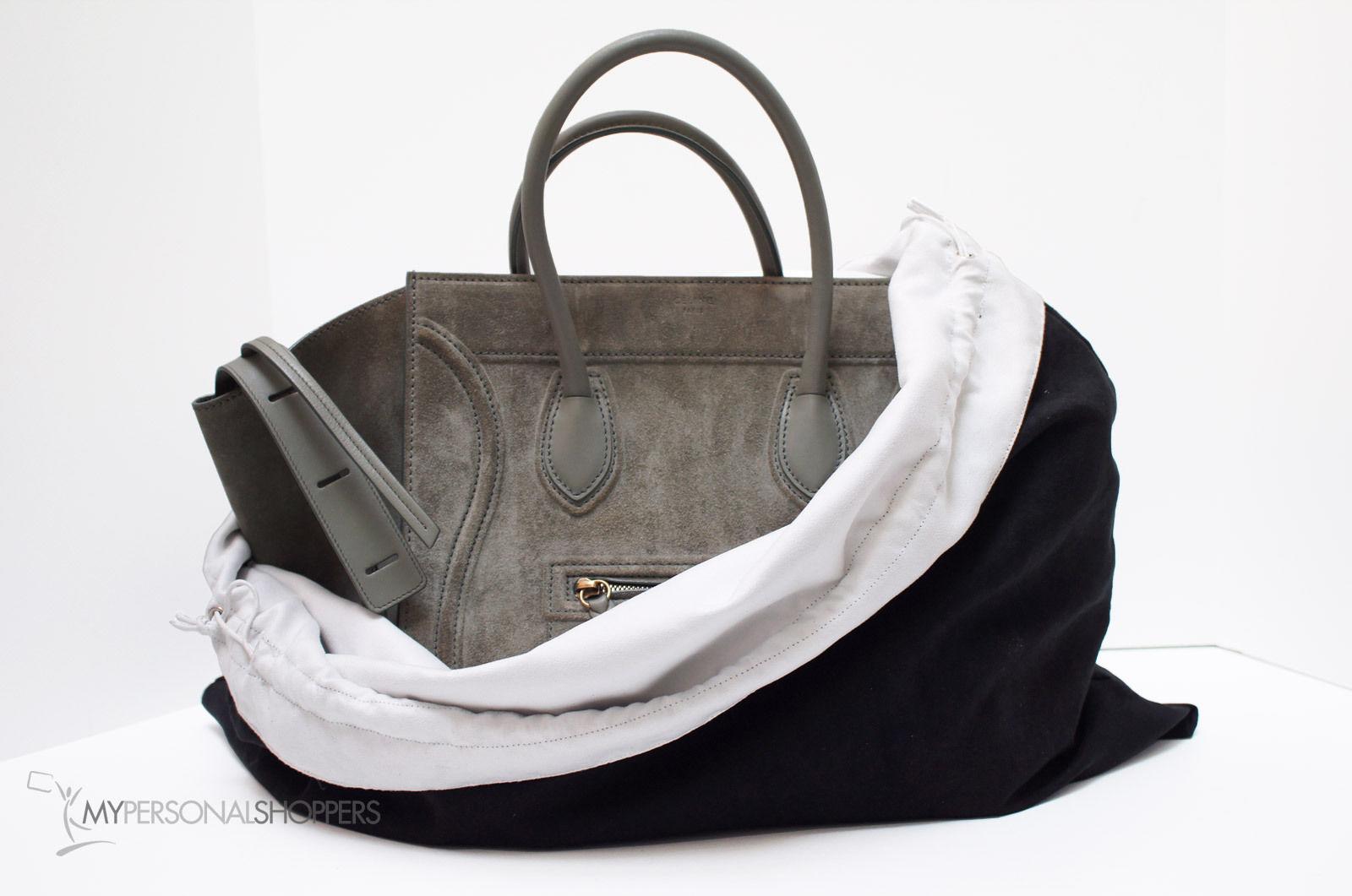 celine white leather shoulder bag with dust bag