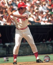 Johnny Bench Bat Cincinnati Reds Vintage 8X10 Color Baseball Memorabilia Photo - $6.99