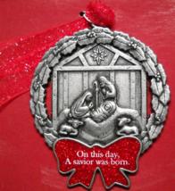 Gloria Duchin Inc Christmas Ornament 1997  Swarovski Elements Nativity B... - $6.99