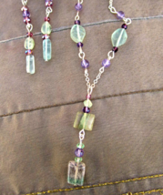 Healing gemstone jewelry Flourite and Sterling silver necklace and earri... - $39.00