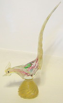 Murano Style Glass Rooster Figurine Large - $111.37