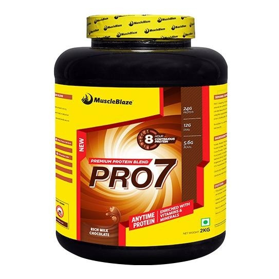 Primary image for MuscleBlaze PRO7 Protein Blend, 2 kg Rich Milk Chocolate