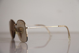 Eyewear, Gold Half Rimless Frame, RX-Able  Tinted Prescription lenses. image 4