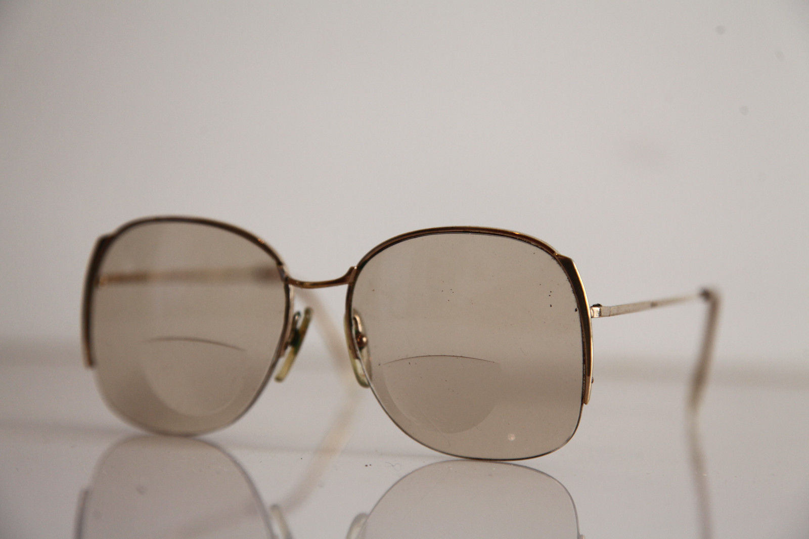 Eyewear, Gold Half Rimless Frame, RX-Able  Tinted Prescription lenses. image 3