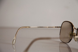 Eyewear, Gold Half Rimless Frame, RX-Able  Tinted Prescription lenses. image 6