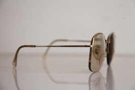 Eyewear, Gold Half Rimless Frame, RX-Able  Tinted Prescription lenses. image 5