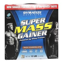 Dymatize Super Mass Gainer, Rich Chocolate 12 lb - $249.00