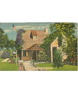 Garden at the Oldest School House, St Augustine, Florida, unused linen P... - $5.99