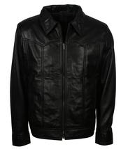 Premium Designer Leather Jacket For Men - Mens Black Luxury Leather Jacket  - $149.00