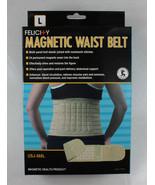 Felicity Magnetic Waist Belt Health Beige Knit 24 Magnets Massage Firm C... - $30.99