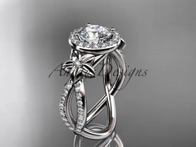 E gold  platinum  diamond wedding ring  diamond engagement ring  forever brilliant moissanite  1