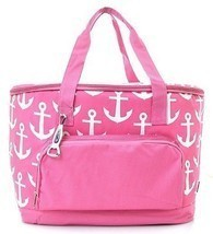 Anchor Print Insulated Cooler Bag (Pink) - $752,78 MXN
