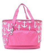 Anchor Print Insulated Cooler Bag (Pink) - $49.32 CAD