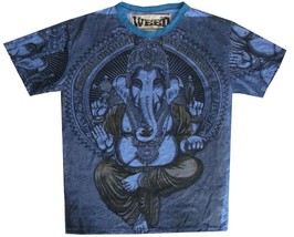S4 Men T Shirt M Ganesh Hindu God Ganesha India Hippie Peace Hobo Boho Rare Weed - $18.80