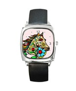 Day Of The Dead Horse Square Metal Watch - $18.99
