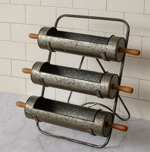 Farmhouse new standing ROLLING Pin Planters Rack - 3 tier  - $98.00