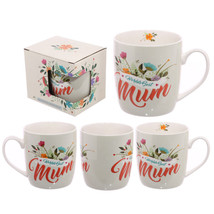 Worlds Best Mum New Bone China Mug Mothers Day Birthday Gift Present Cup - $16.07