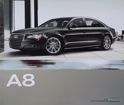 2011 Audi A8 sales brochure catalog US 11 A8L L 4.2 - $12.00