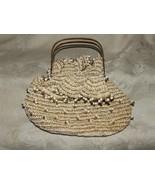 Vintage 1940-50s Hand Made KNIT Handbag Purse Bag Goldtone Scissor Handles - $79.20