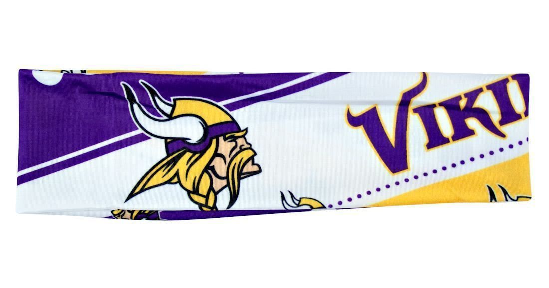 MINNESOTA VIKINGS STRETCH PATTERN HEADBAND GAME TAILGATE PARTY NFL FOOTBALL