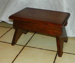 Solid Walnut Footstool / Stool  (ST128) - $129.00
