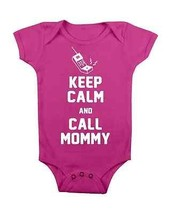 Funny Baby Onesie Keep Calm And Call Mommy Baby Onesie Baby Shower Gifts Newborn - $15.00