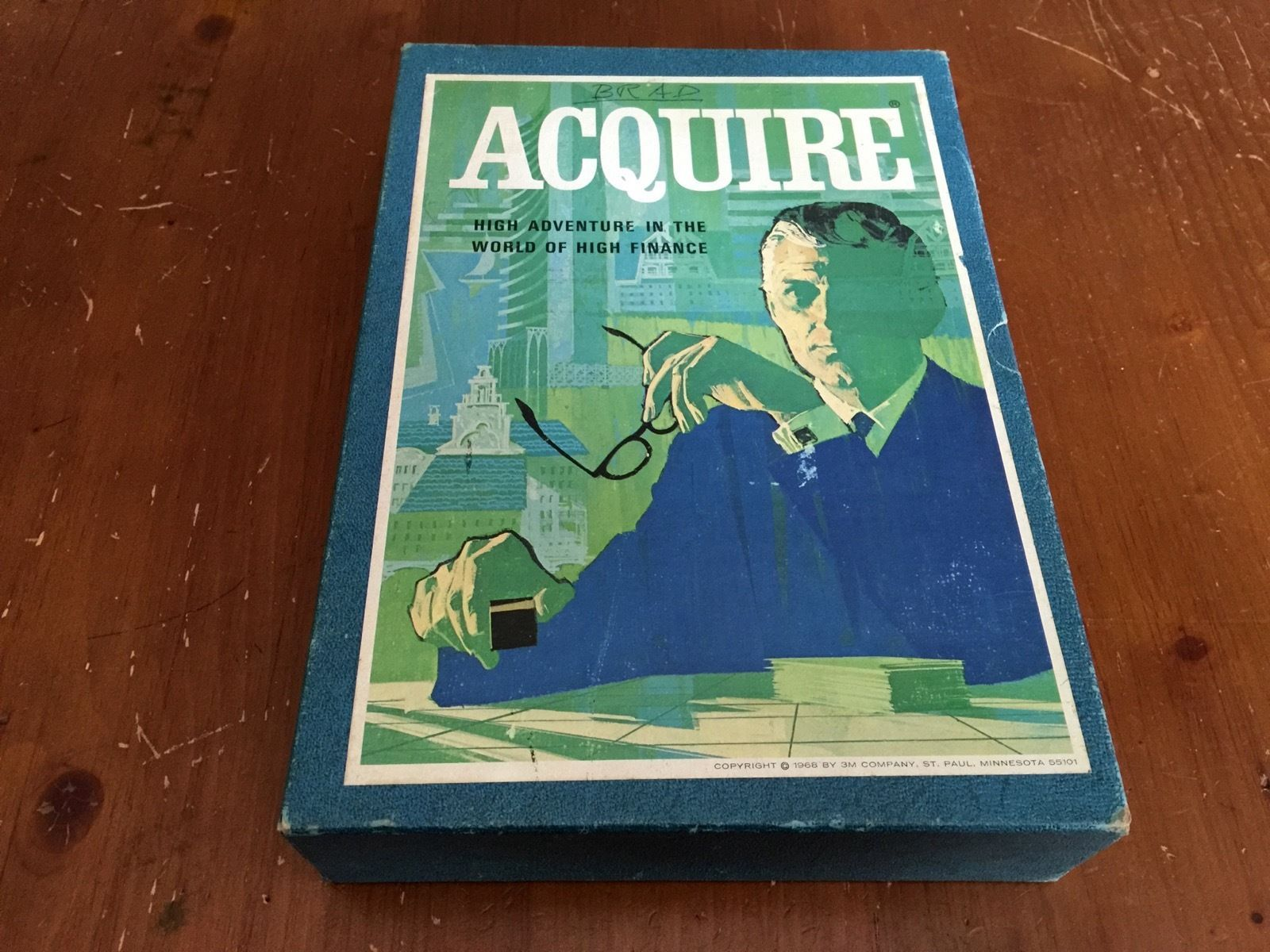 Vintage 1968 Acquire Bookshelf Financial Board Game by 3M - Complete Game