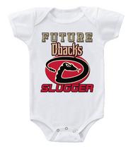 Cute Baby One Piece Bodysuit Baseball Future Slugger MLB Arizona Diamond... - $10.99