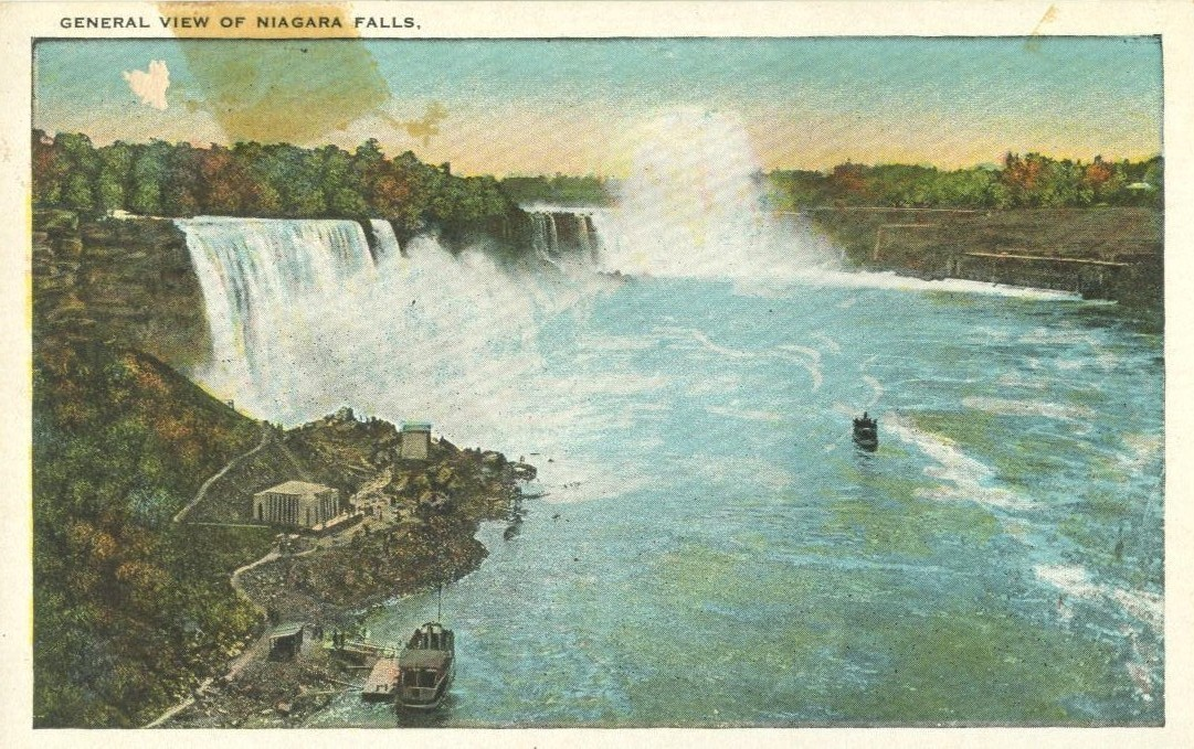 General view of Niagara Falls, from Canadian Side, early 1900s unused Postcard