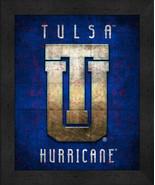 "Tulsa Golden Hurricanes ""Retro College Logo Map"" 13x16 Framed Print  - $39.95"